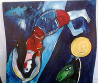 Reproduction d'apres Chagall